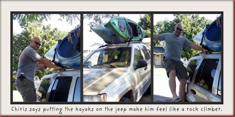 jeep and kayaks