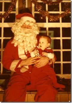baby Dana and santa