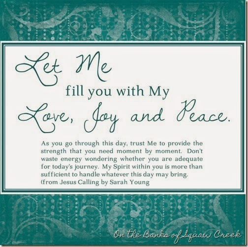 love, joy, peace jesus calling