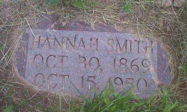 Hannah Hansen Smith's Headstone