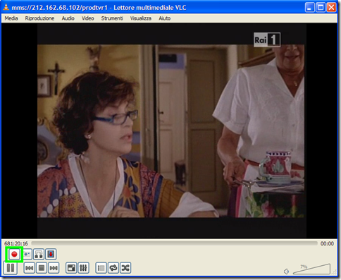 Canale TV in streaming riprodotto su VLC