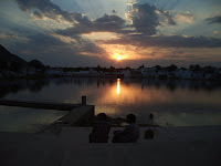 Sunset over Pushkar Lake