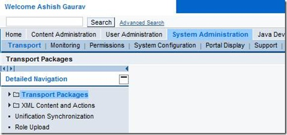 Import Roles from SAP system to Portal