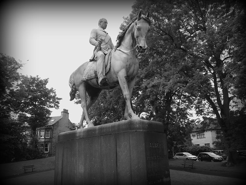 Prince Albert atop his horse