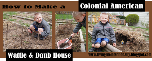 How to make a Colonial Wattle & Daub House