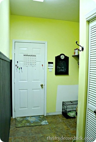 yellow mud room
