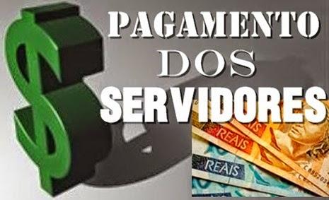 pagamento dos servidores