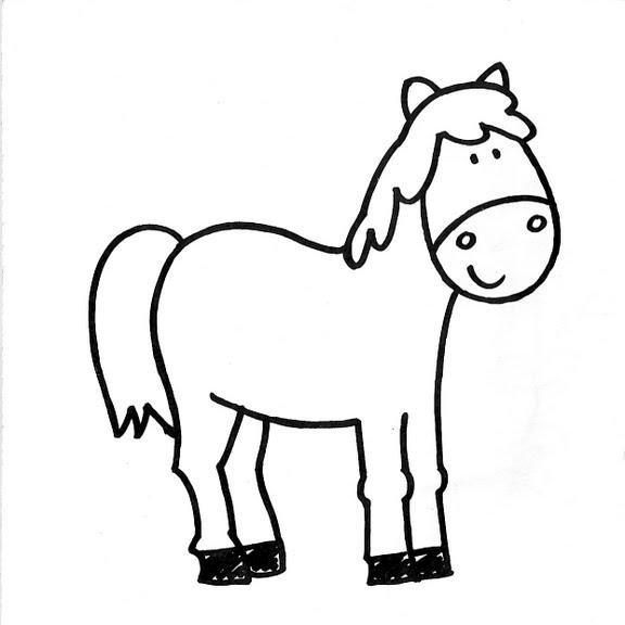 Dibujar caballo facil - Imagui