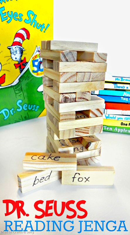 Dr. Seuss Reading Jenga