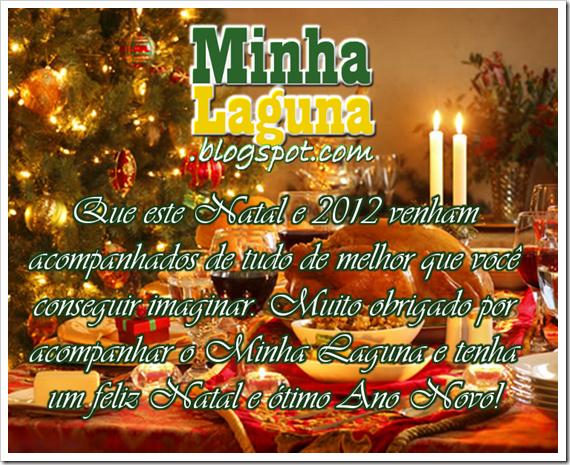 Cartão de Natal e Ano Novo do blog Minha Laguna
