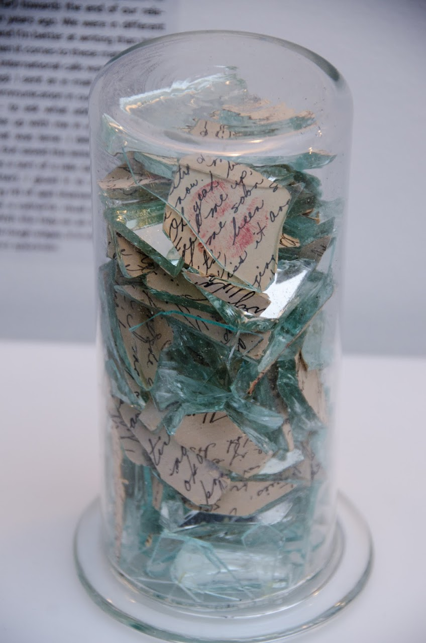 Shattered love letter at Museum of Broken Relationships