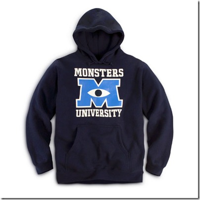 Monster University Official Clothing - Blue Hoodie