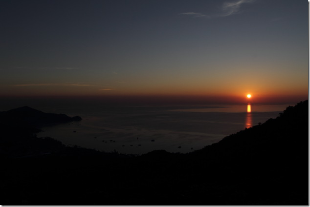 Beautiful sunset from Mango view point, Koh Tao
