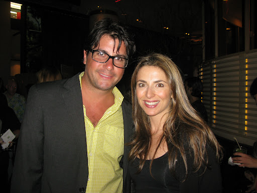 Jessica Aufiero of Rouge Tomate posed with Anthony.