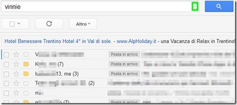 Motore di ricerca Gmail