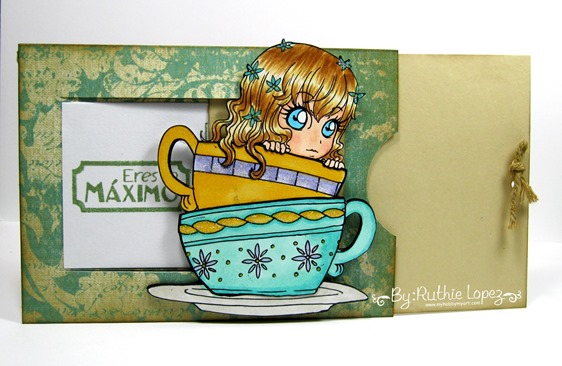 Zuri Artsy Craftsy.  Tea.  Tarjeta deslizante. Ruthie Lopez. My Hobby My Art 2