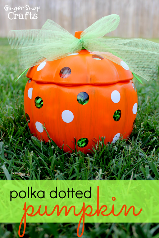 Polka Dotted Pumpkin #gingersnapcrafts #decoart #multisurfacepaint #spon