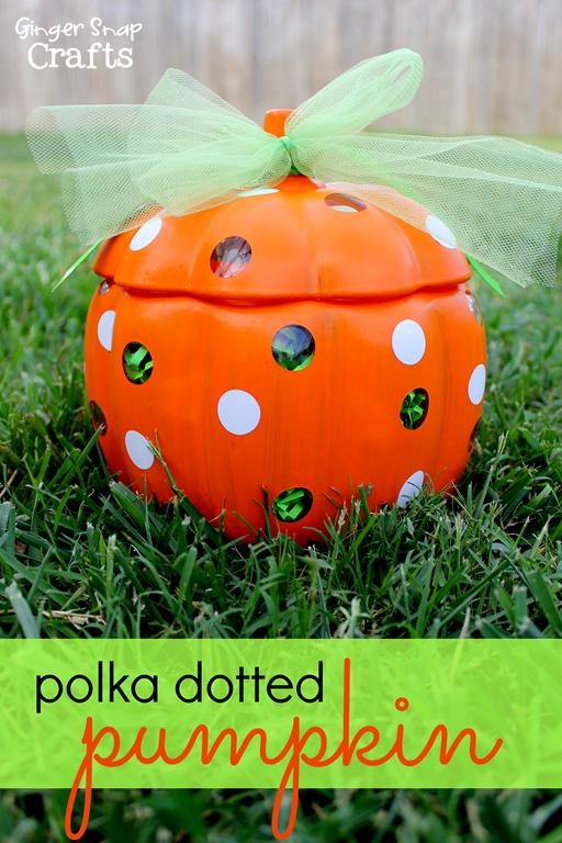 Polka Dotted Pumpkin #gingersnapcrafts #decoart #multisurfacepaint #spon