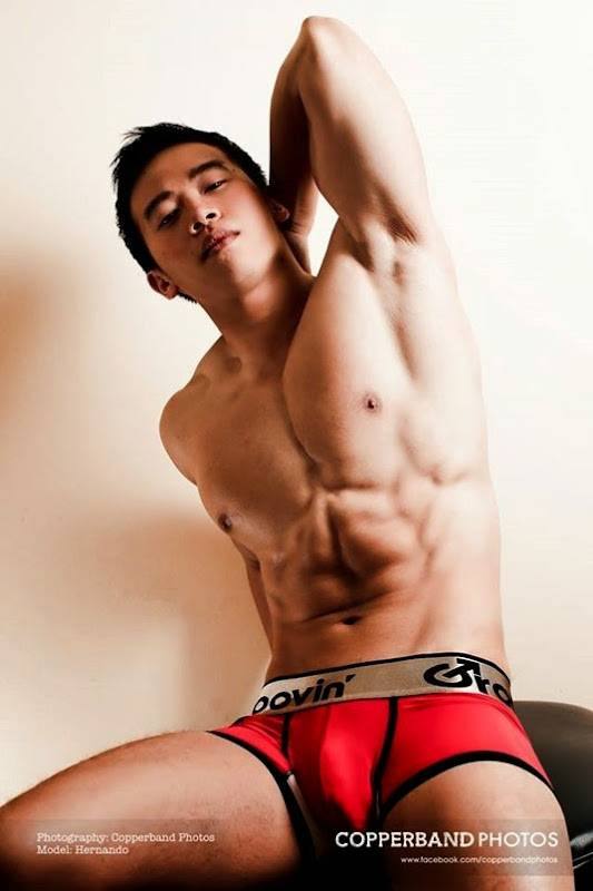 sexy guy in red trunks