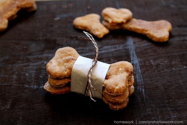Homemade Carrot & Banana Dog Biscuits via homework | carolynshomework.com