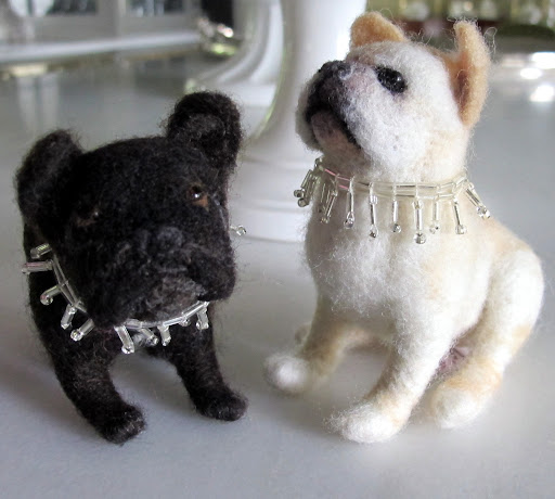 Martha recently did a whole show on Etsy and featured many designers.  These adorable needle felted likenesses were made by Jennifer Thornington, who sells on Etsy. http://www.marthastewart.com/901112/etsy-show