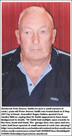 Smith Peter Margate pensioner murdered May 8 2011 bludgeoned