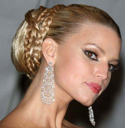 Jessica Simpson Hair Wedding Updo Style
