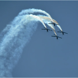 Paint the sky by Johann Perie - Transportation Airplanes ( air show )