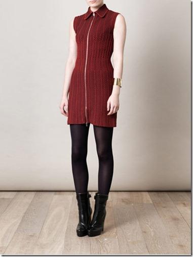 Azzedine Alaia Ecaille Zip Front Dress copy
