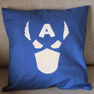 Captain America Cushion Cover from Citadel Traders on Etsy