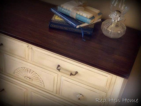 stained top cedar chest
