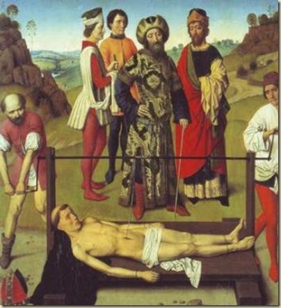 Détail du martyre de Saint Erasme,  Bouts
