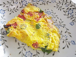 ham and malunggay omelet, 240baon