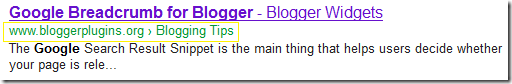 Google Breadcrumb for Blogger