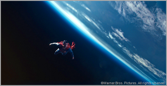 Superman flies much higher than MAN OF STEEL does. CLICK to visit the official movie site.