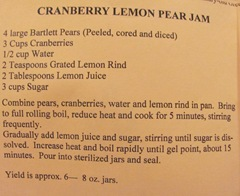 Cape Cod Columbus weekend 2012..Sat. Green Brier Jam Kitchen cranberry Lemon Pear recipe