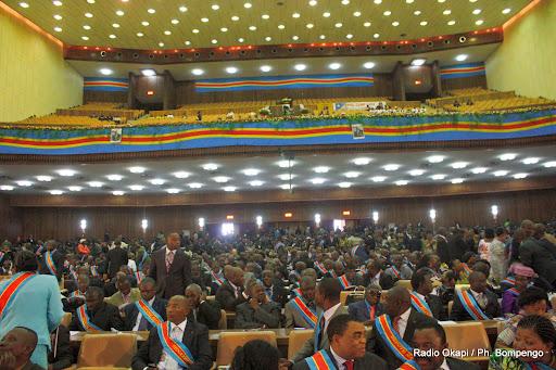 Une vue des députés nationaux et sénateurs congolais au palais du peuple (siège du parlement), ce 8/12/2010 à Kinshasa. Radio Okapi / Photo John Bompengo