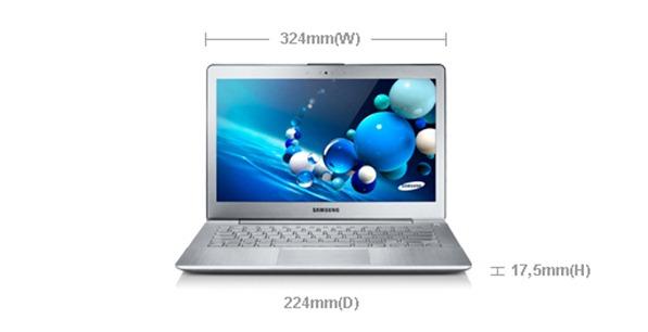 Dimensi Samsung Seri 7 Ultrabook Terbaru