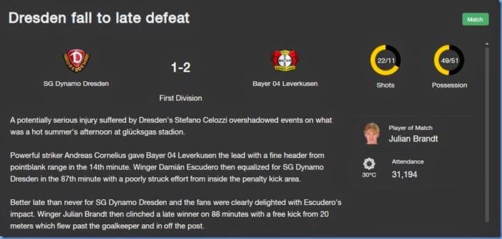 Dresden Leverkusen