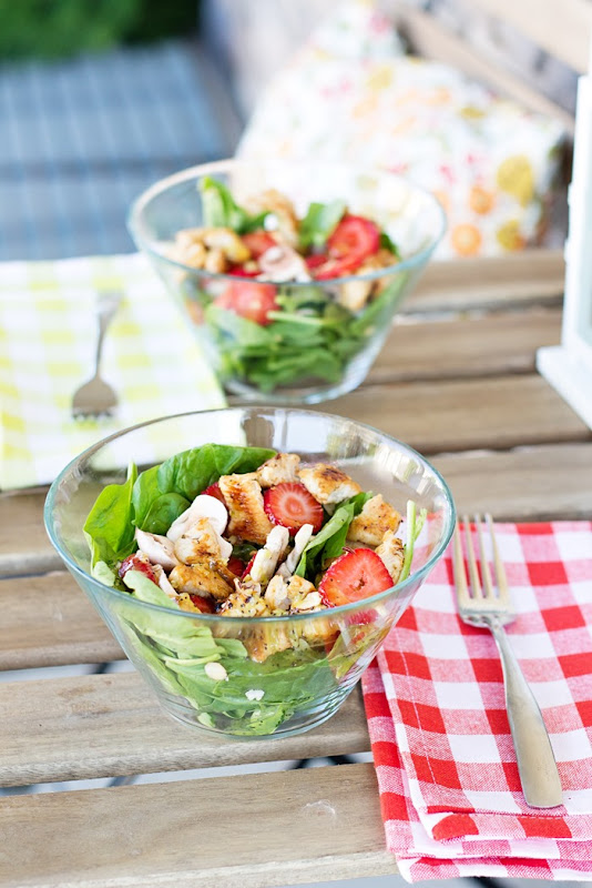 Amy's famous Spinach Strawberry Summer Salad