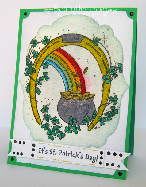 The Stampiung Boutique - 613 Avenue Create - St. Patrick´s Day Card - My Hobby = My Art - Ruthie Lopez DT