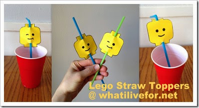 LEGO Head Straw Toppers @ whatilivefor.net