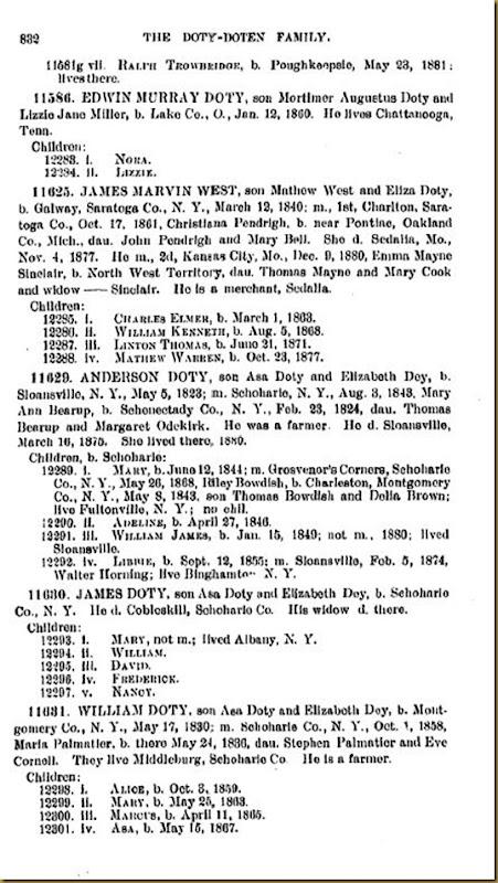 Doty-Doten Family In America-The Family of Joseph Doty208