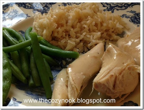 Chicken with Gravy - The Cozy Nook