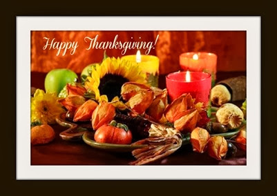 Thanksgiving for blog