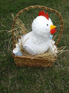 Cesta pañales gallina