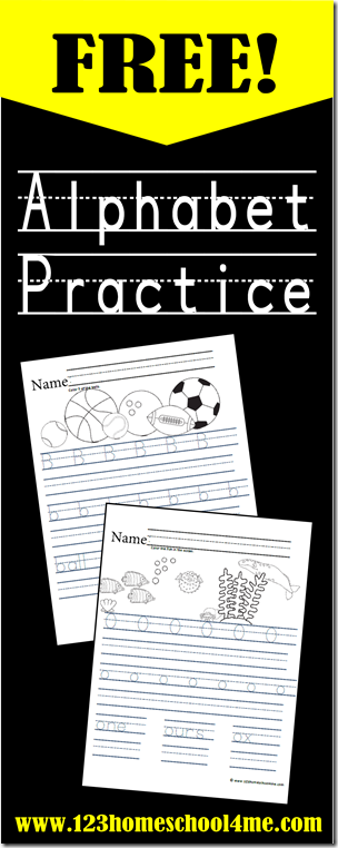 FREE Alphabet Worksheets for Handwriting Practice