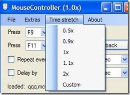 MouseController aumentare velocità ripetizione della sequenza