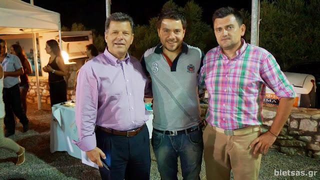 Με τον Δήμαρχο Μεσσήνης, Στάθη Αναστασόπουλο και τον Πρόεδρο του μορφωτικού συλλόγου Πολύλοφου Θανάση Αναστασόπουλο.