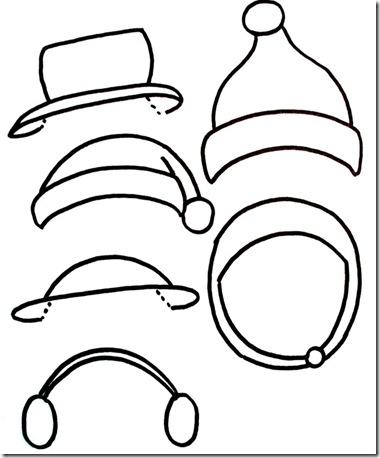 Snowman Hat Template snowmen printables - just paint it blog